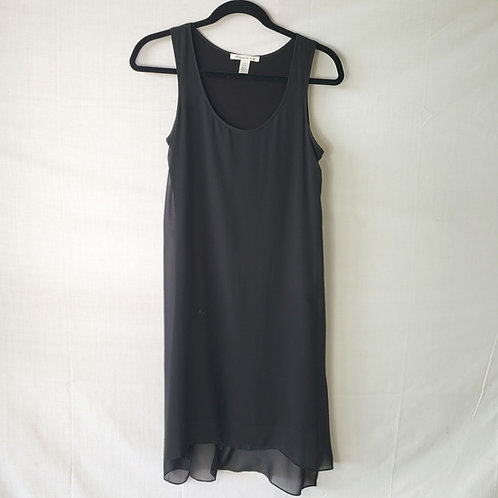 Kenneth Cole Black Dress with Sheer Overlay - size 2