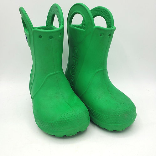 Crocs Pull on Rain Boots Size 7(some wear, but still life)