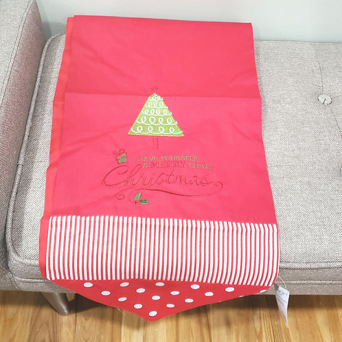 Grasslands Road Christmas Table Runner Stripes & Polka Dot