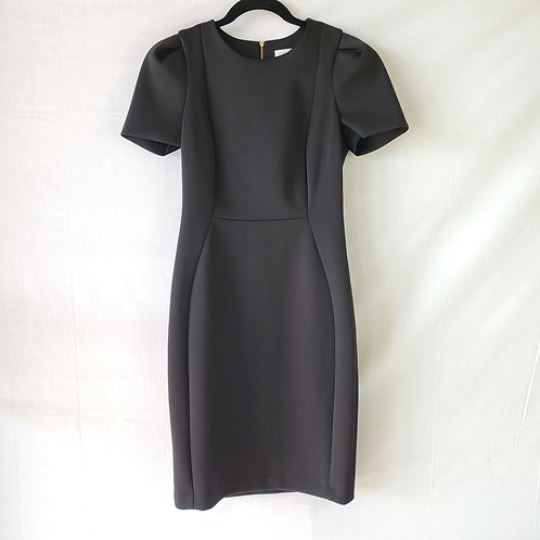 Calvin Klein Black Structured Pencil Dress - size 6