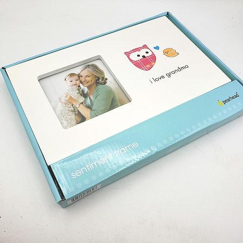 "I love Grandma Sentiment Frame 6""×10"" Wall Hanging or Tabletop"