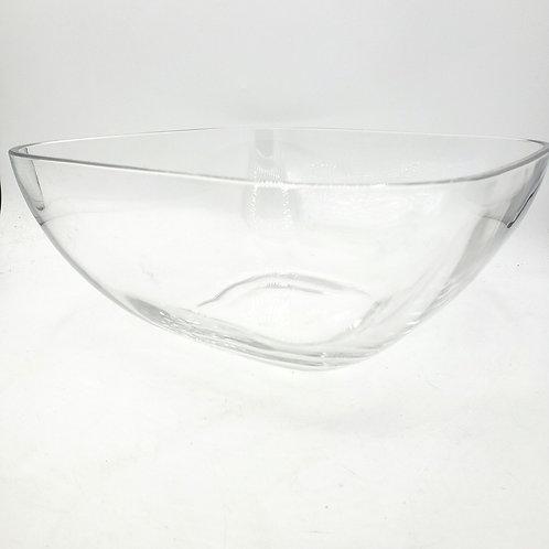 "Heavy Glass  Rectangular Serving Bowl 10"" x 5"""