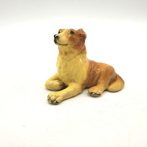 "Vintage Ceramic Dog Figurine 4"" Sold As Is"