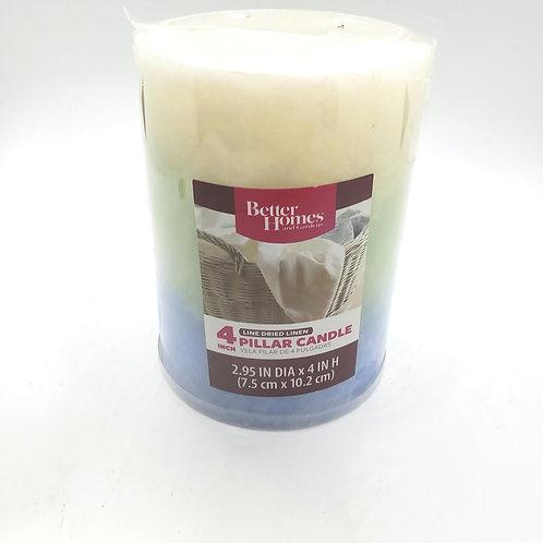 Better Homes and Garden 4 Pillar Candle Line Dried Linen