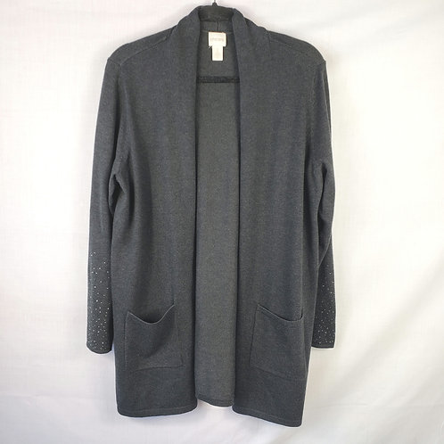 Chico's Gray Open Cardigan - size 2