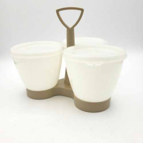 Vintage Tupperware Condiment Caddy Server