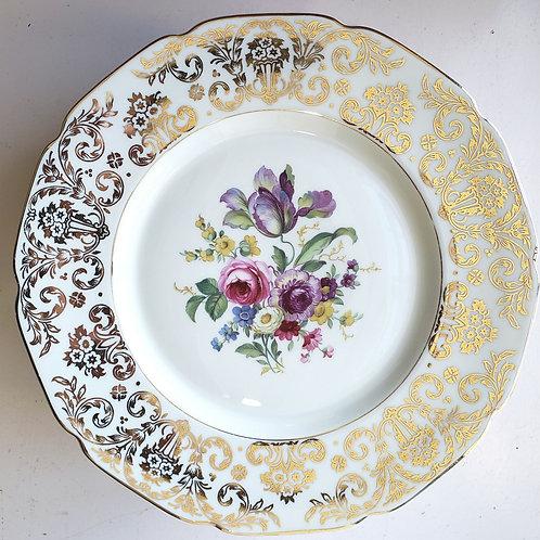 """H & C Selb Bavaria Heinrich22 Kt Gold Encrusted Plates 11"""" Set of 10"""