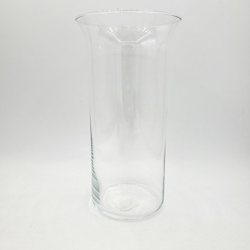 """Cylinder Glass Vase 10"""" Made in Mexico"""