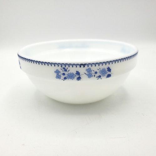 """Uniware Porcelain Bowl Blue Floral 5""""W 2.5""""H"""