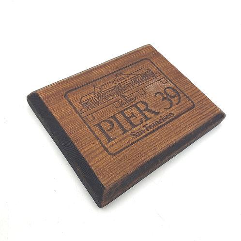 Pier 39 San Francisco Wooden Plaque Magnet