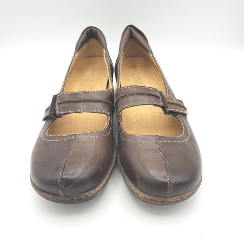 Naturalizer Brown Leather Mary Janes - size 8.5N