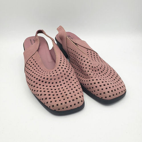 arche Dusty Rose Perforated Leather Sling Backs - size 39.5