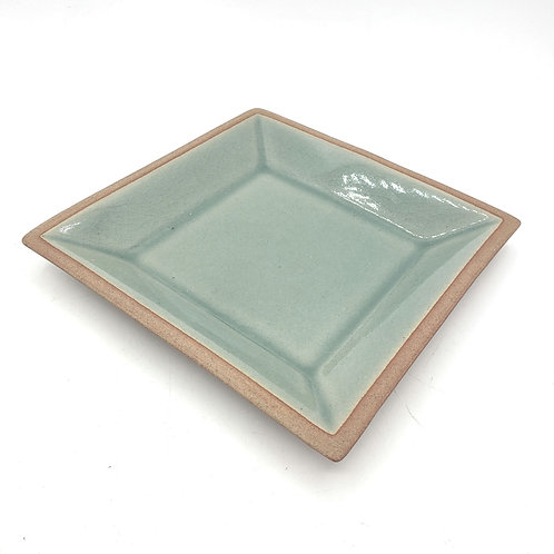 "Siam Celadon Wood Ash Glaze Plate 5.5"""