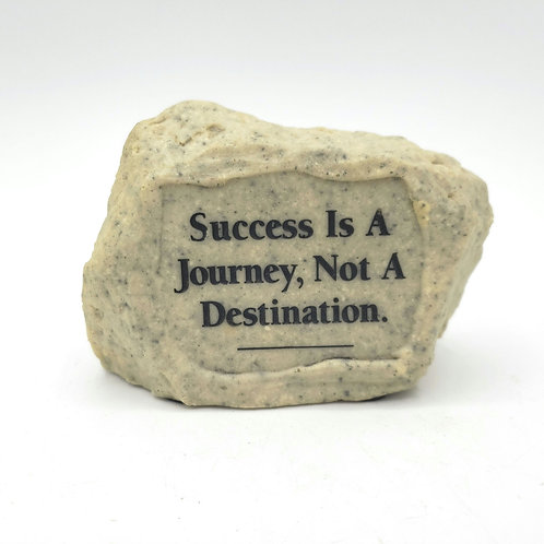 Inspirational Quote Paperweight Rock