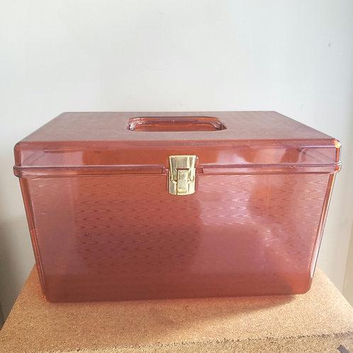 "Vintage Wilson Plastic Sewing Box 15""x10""x9"""