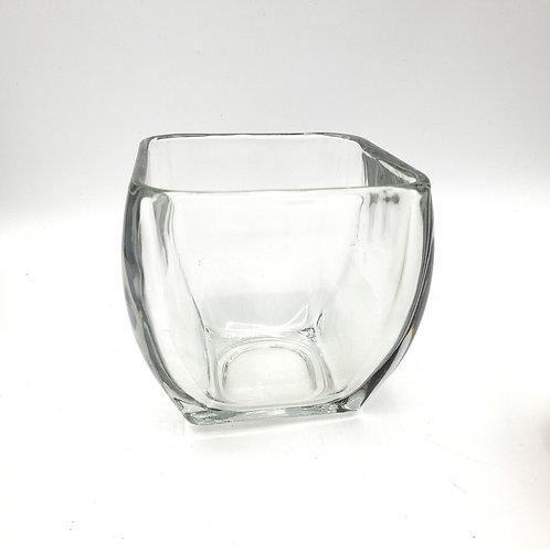"Glass Vase 5""H 5""W"