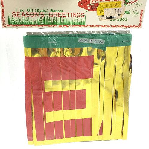 Vintage 6 Ft Japan Seasons Greetings Banner