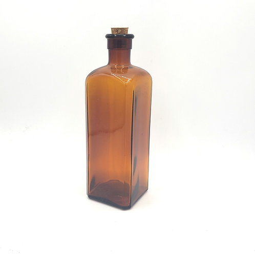 """Amber Bottle with Cork 8"""""""