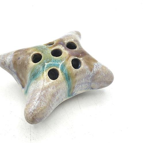 Handmade Ceramic Flower Frog