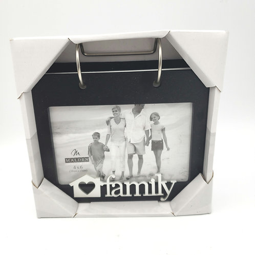 "Malden Family 4""x6"" Photo Album Frame NEW"