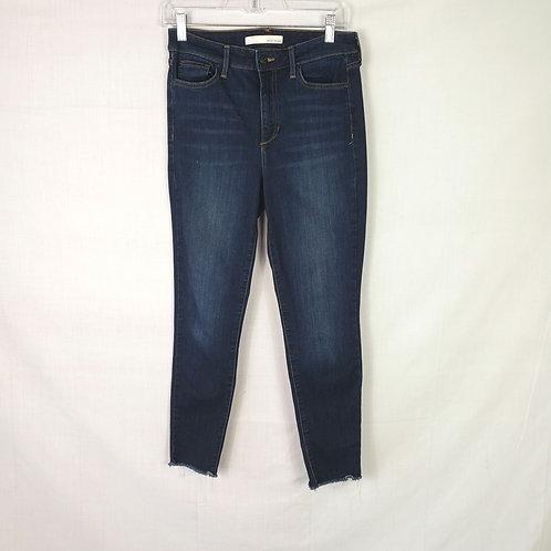 Ella Moss Frayed Hem High Rise Skinny Jeans - w 29