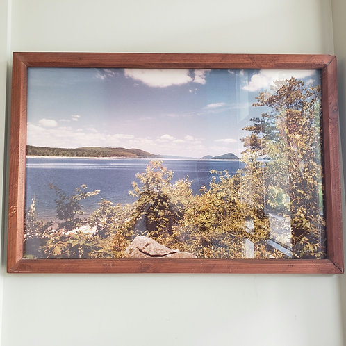 "Vintage Color Seaside Photograph D. Gaughan 24""x34"""