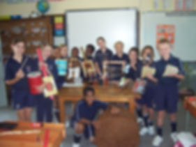 Musical instruments created by Michaelis Private School pupils.