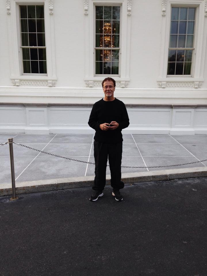 Standing in front of White House