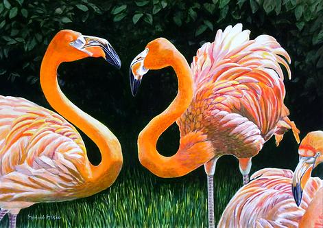 """Flamingo Friends"""