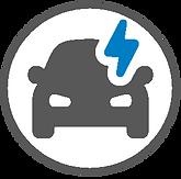 Electric rental car icon