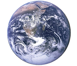 Picture of clean green earth due to ev car rental