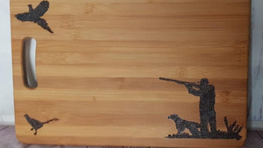 Shoot scene wooden chopping board