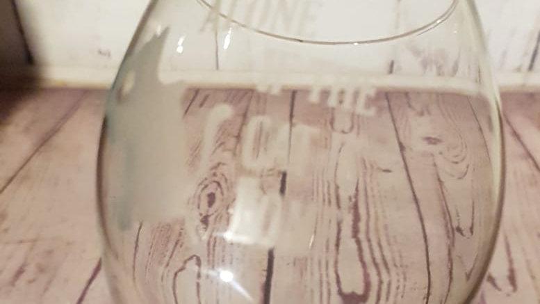 Cat Theme Wine Glass