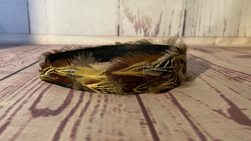 A wing feather hair band