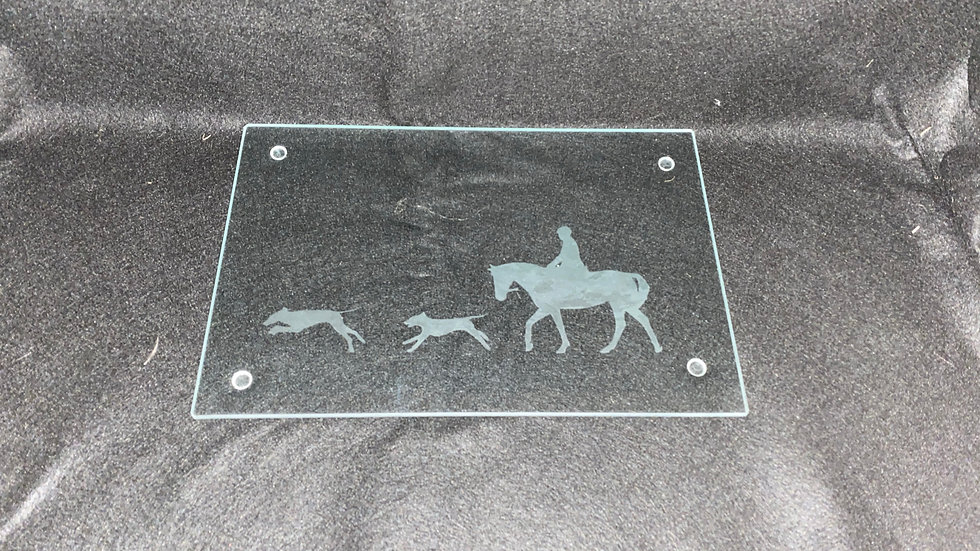 Rider and hounds chopping board