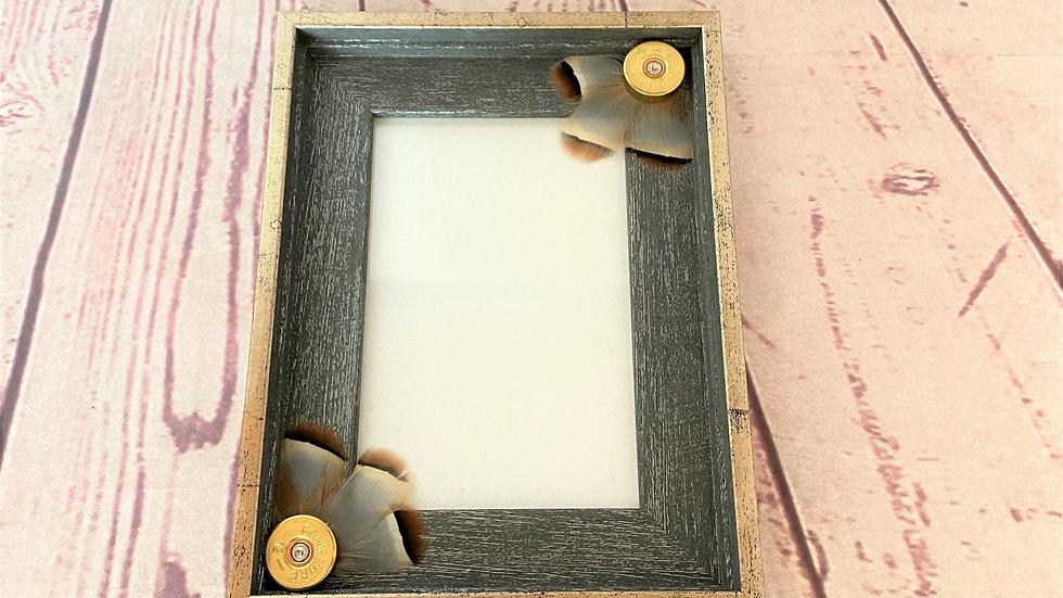 Photo Frame With French Partridge Decorations