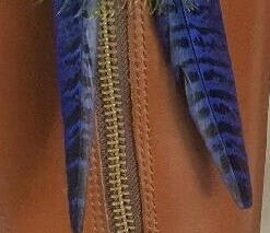 Cockbird - tail blue x2