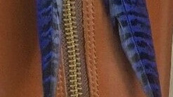 Blue Cockbird Pheasant Tail Feather x 2