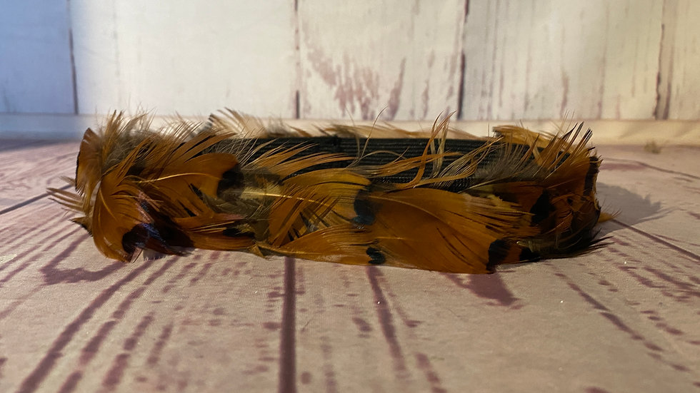 M feather Hatband