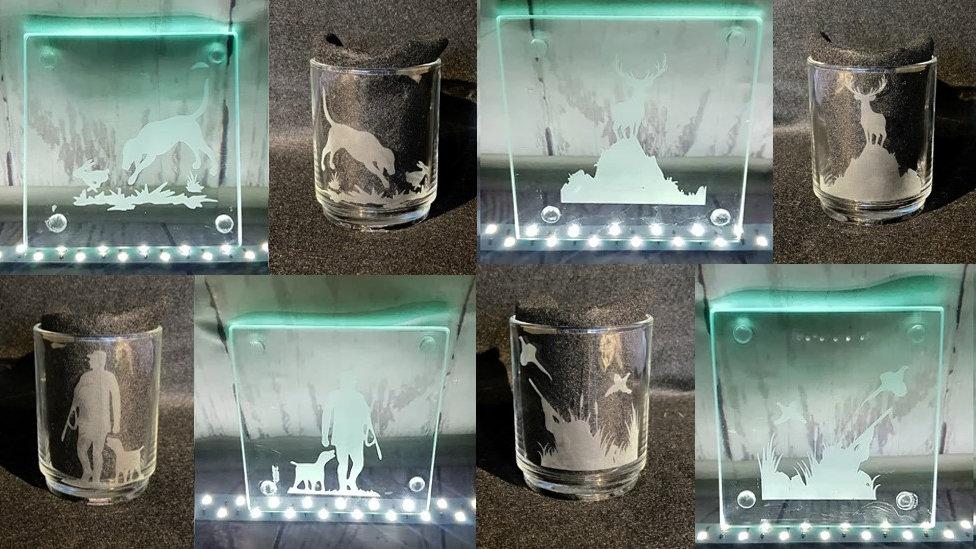 Glass Tea/Coffee Mug and Coaster Sets