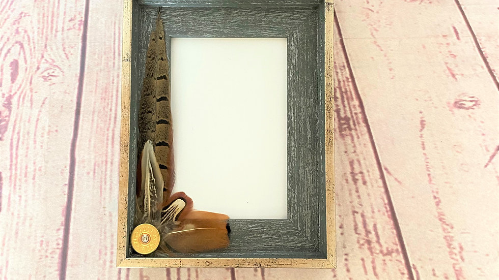 Photo Frame With Cockbird Pheasant Decorations