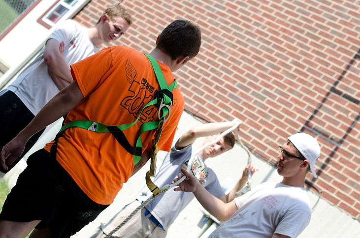 Ladders, hoses, drop clothes and buckets that painters use to ensure and quality job is performed safely