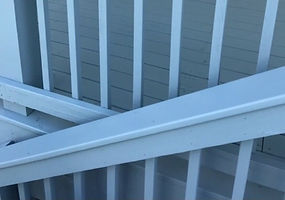 Porch stained by student painters