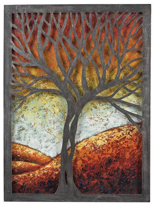 Whitney-Autumn Scene Metal Wall Art