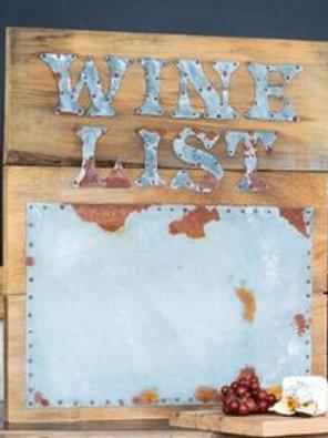 Wine List on Cypress