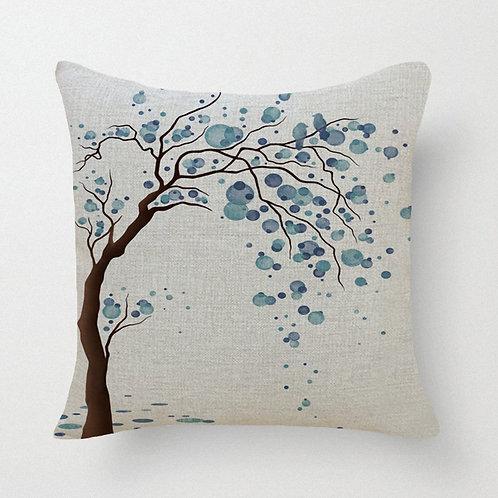 Raining Tree Throw Pillow