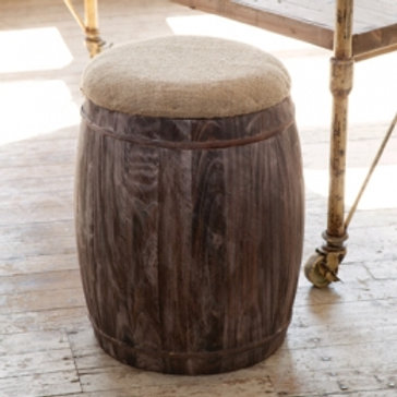 Barrel with Feed Sack Seat