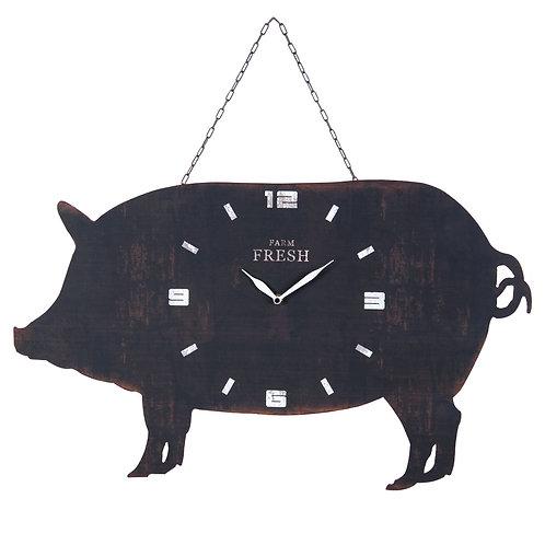Hanging Pig Wall Clock