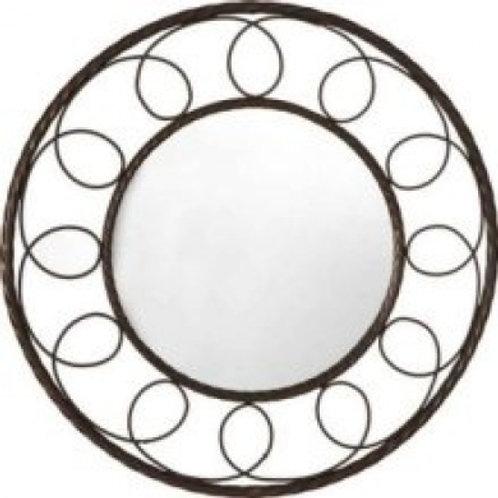Metal Rope Swirl Mirror