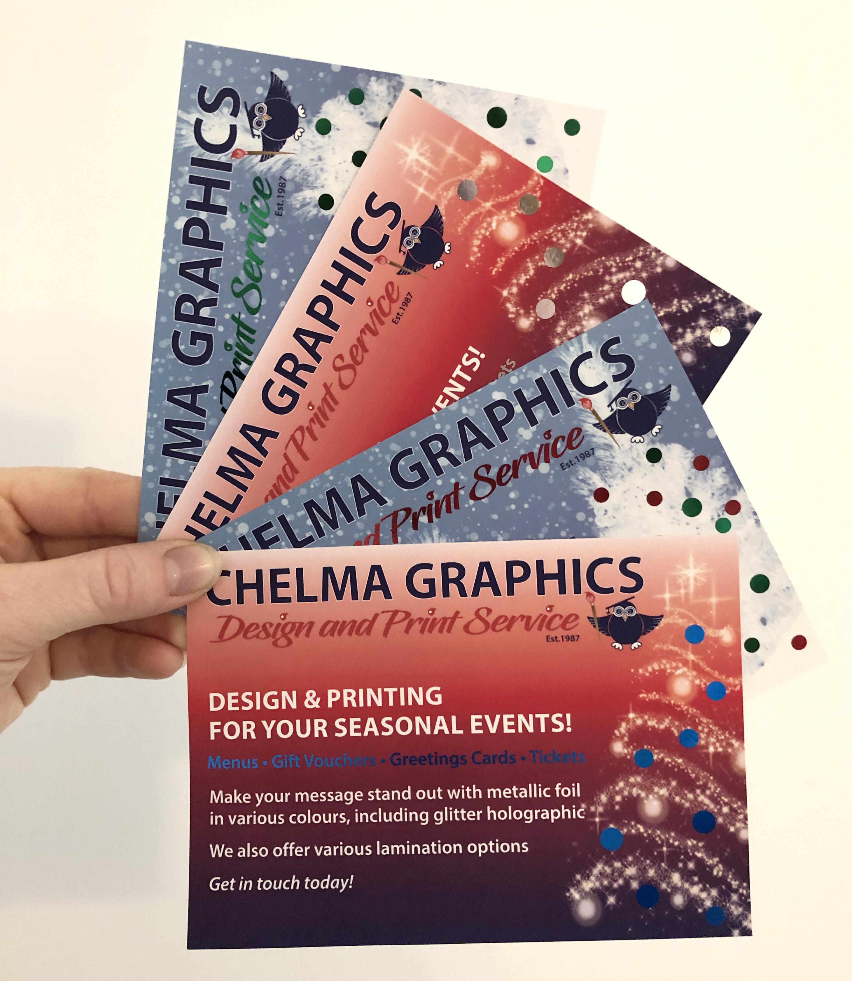 Foiling leaflet FB advert